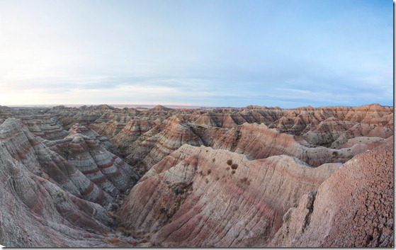 SD - White river valley in the Badlands NP