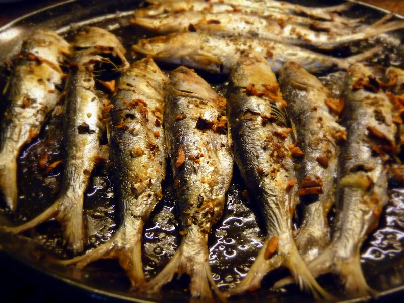 A Lithuanian Cooking In India Baked Sardines Greek Style