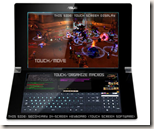 Dual touchscreen laptop
