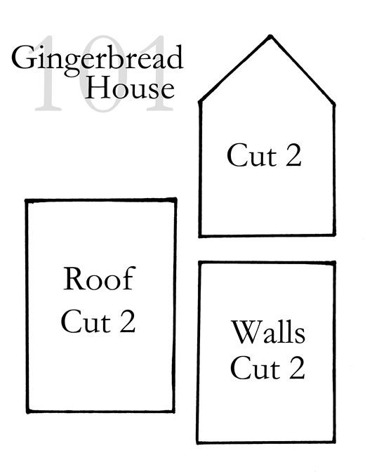 paper gingerbread house template printable - photo #37