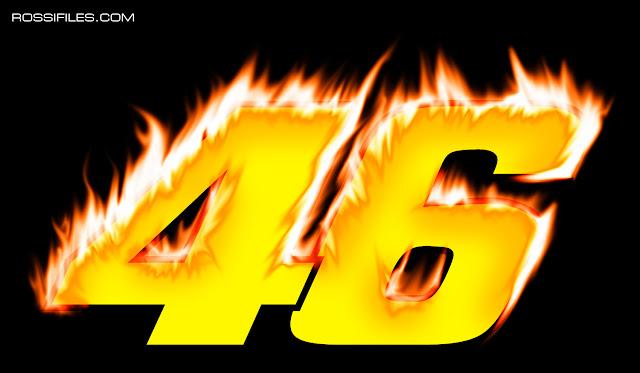 Valentino Rossi 46 Fire Black