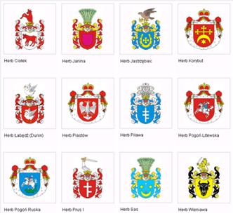 Ejemplos de blasones polacos