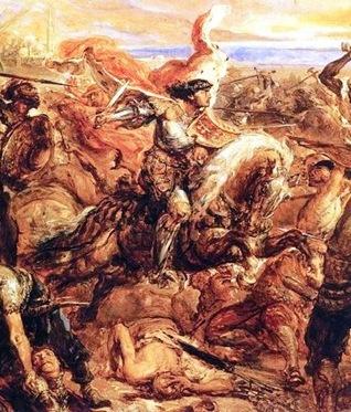 El Rey Ladislao de Polonia-Hungria en la batalla de Varna, por Jan Matejko