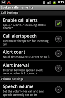 Screenshot of Talking Caller ID Free