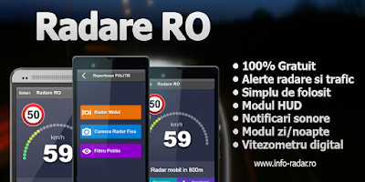 Screenshot of Radar RO - Speedcams Romania
