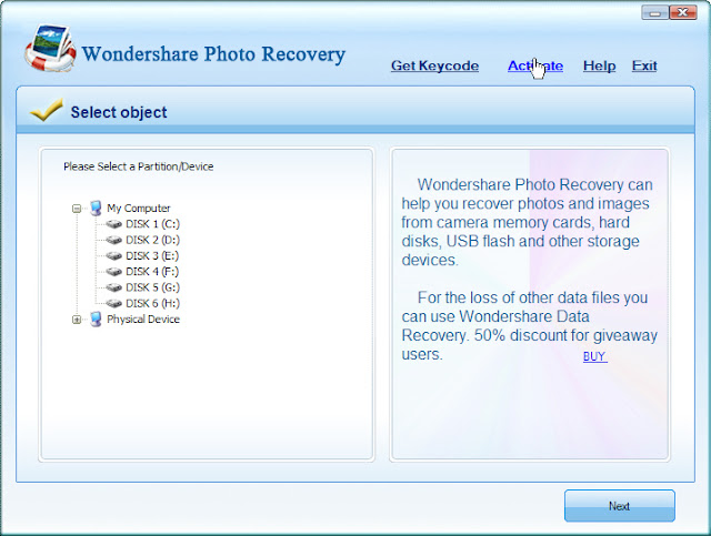 wondershare photo recovery activation code