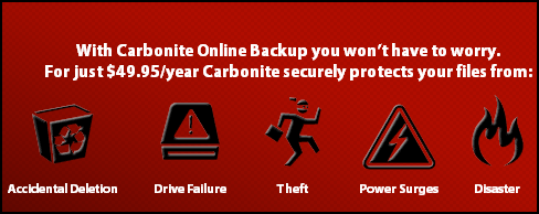 Carbonite Online Backup – Free 3 Months Subscription