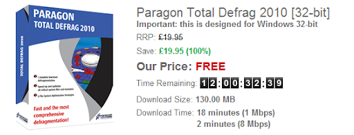 Paragon Total Defrag 2010 SE Free License Key