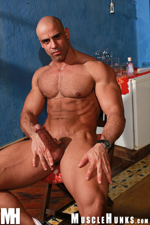 Hairy hunk muscle daddy