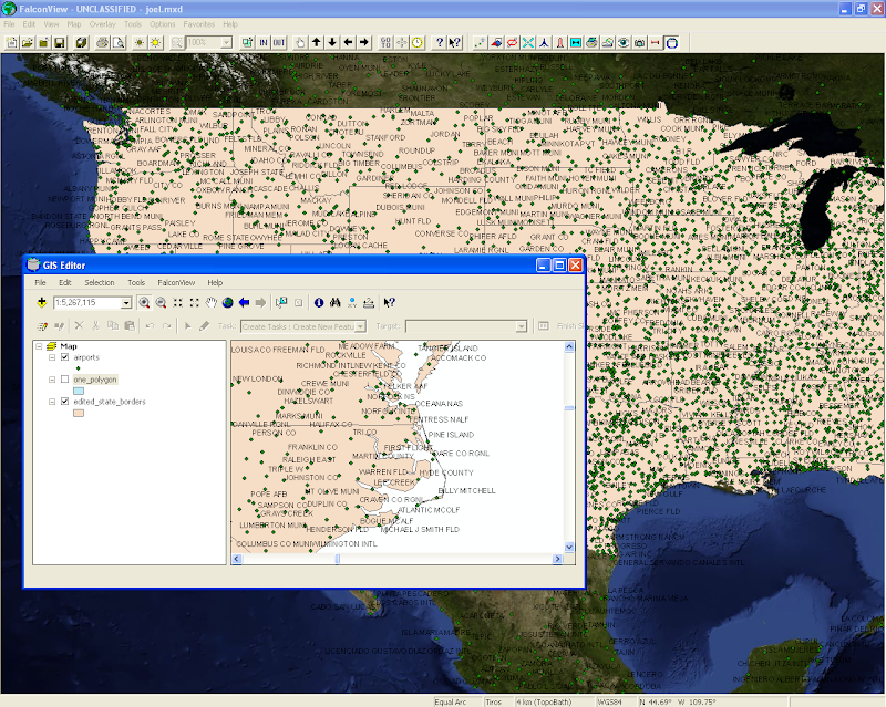 FalconView includes the ability to display and edit ArcMap .mxd files (requires ArcGIS Engine)