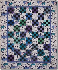 Cows baby quilt