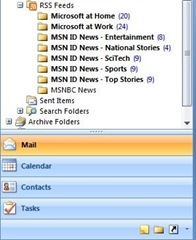 RSS Feed Sidebar Outlook 2007
