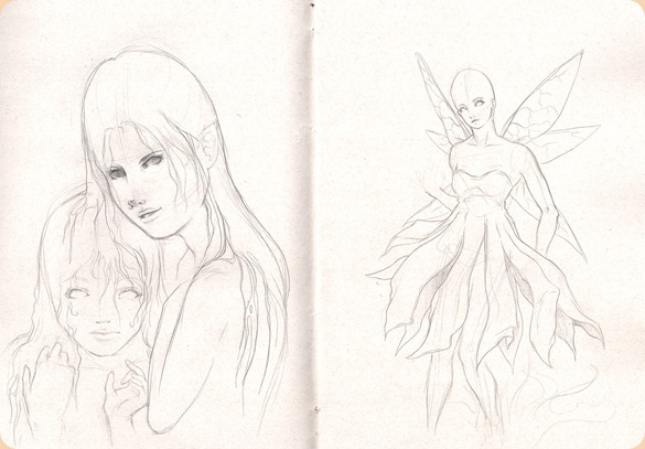 sketch fadas