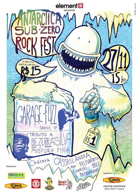 Cartaz Antarctica Sub Zero Rock Fest OK