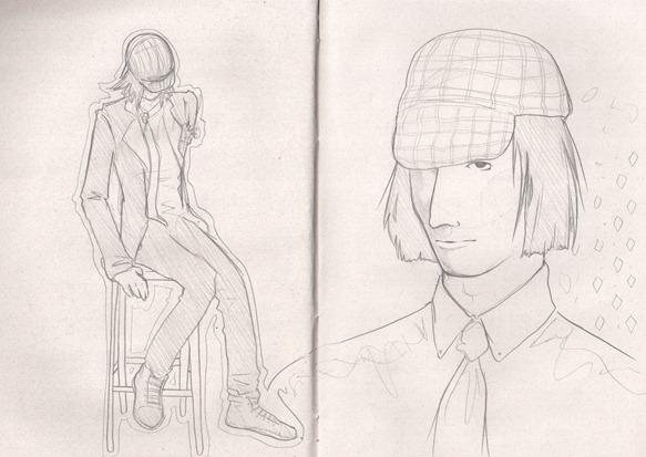sketch do dia lanvin inspired