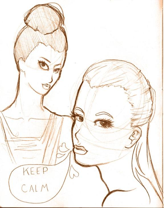 sketch do dia - keep calm