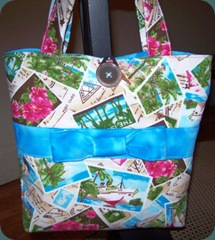 tropical postcard bag 1