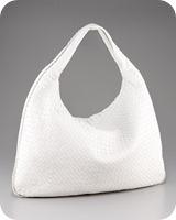 Bottega Veneta Maxi Veneta Hobo & Toe-Strap Thong Sandal  White