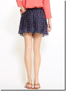 Mango Flora Skirt Back