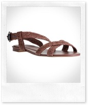 STELLA MCCARTNEY Brown braided sandal
