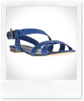 STELLA MCCARTNEY Blue braided sandal