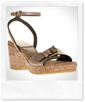 Stella McCartney Faux patent-leather wedge sandals