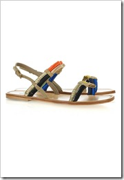 Yves Saint Laurent  Suede and satin slingback sandals