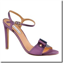 Satin sandals in purple
