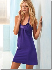 Sequin Halter Bra Top Dress Purple