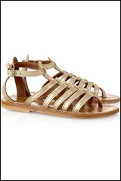K Jacques St Tropez Darius flat leather gladiator sandals