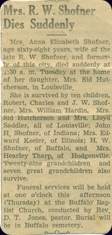 Ma Shofner's Obit #1