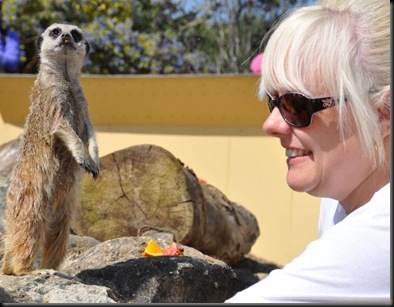 Sally Green with Meerkat (cropped) 0135