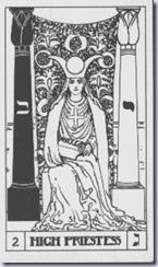 blanco y negro-la sacerdotisa