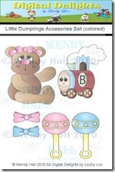 Little Dumplings Accessories set color watermark