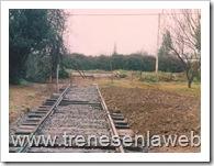 foto22: vista del terreno en el inicio de las obras para la instalacion del la via en que fue colocado el automotor