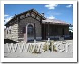 Estación ferroviaria de Visviri del Ferrocarril de Arica a La Paz, estado del edificio en diciembre de 2008