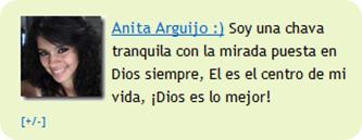 Anita Arguijo Nueva Editora del Blog de Cristo