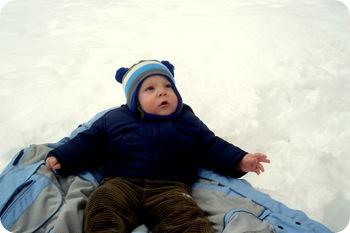 Eli's first snow