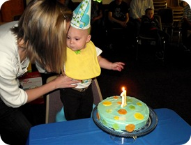 blowing out the candle