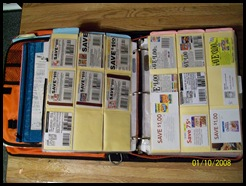 Open Binder of coupons