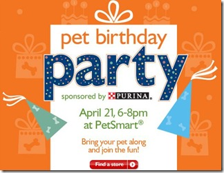 PetSmart Pet Birthday Party