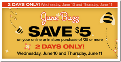 5 off 25 at Walgreens June Buzz