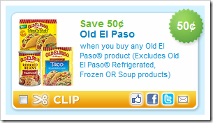 Old El Paso 50 cents off Coupon