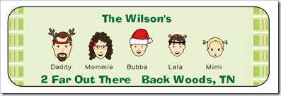 Address Label - Christmas Characters
