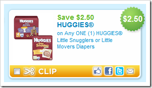 Huggies Little Snugglers or Little Movers Diaper Coupon