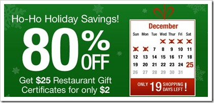 Restaurant dot com Ho Ho Ho Holiday Savings