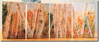 Birches in Autumn Art Blocks