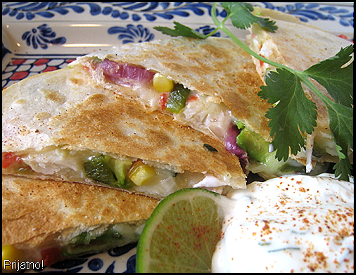 Crab quesedillas