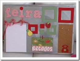 mural de fotos e recados para cozinha