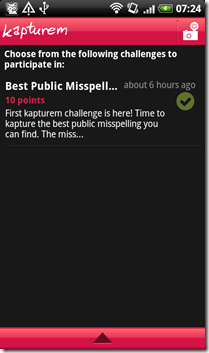 kapturem challenges screen
